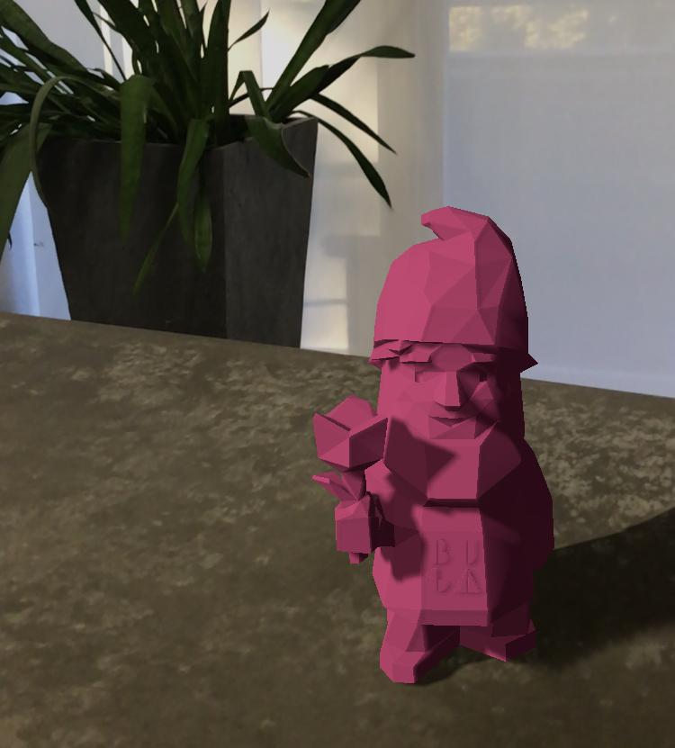 BUGA-Zwerg Karl in der AR Viewer App