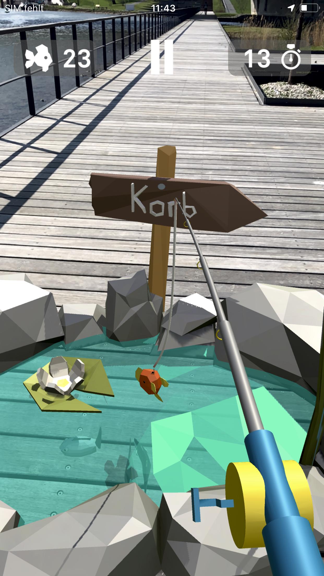 Angeln, ein Minispiel der impact.karl-App