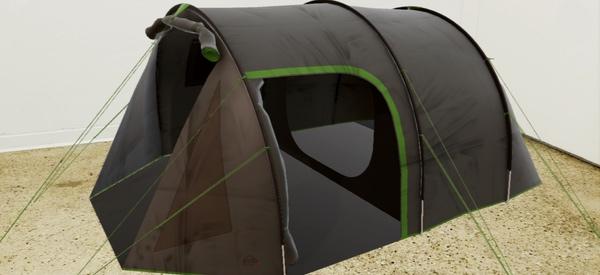 Ein Zelt der Intersport-App